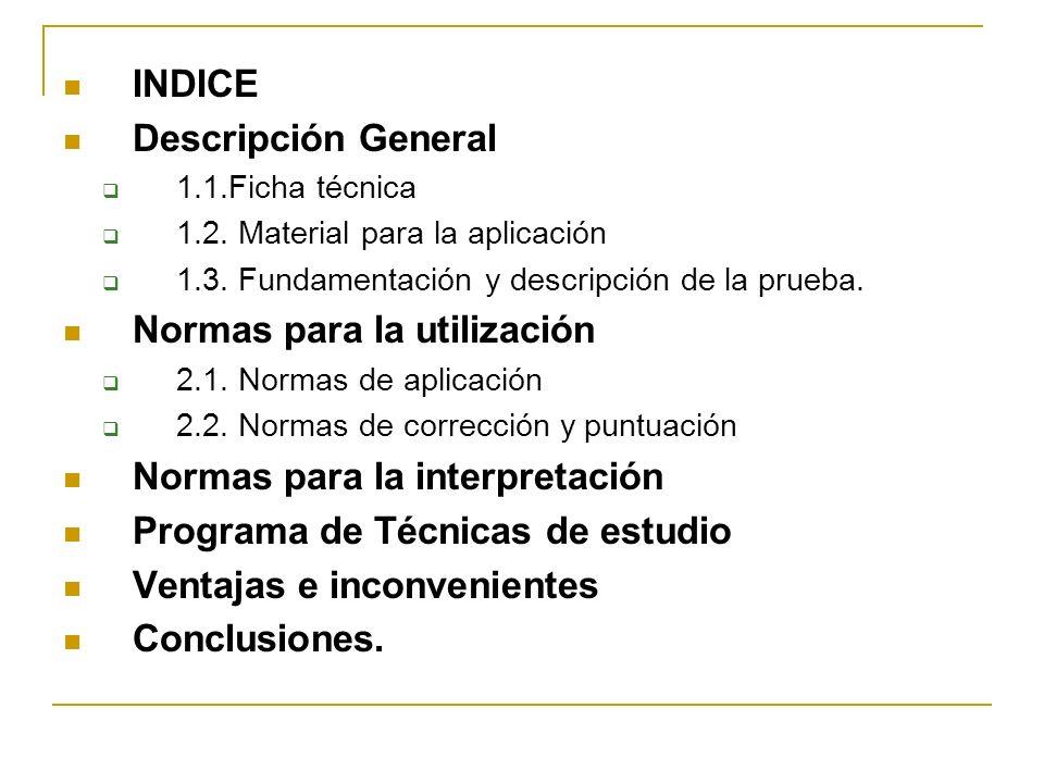 Normas para la utilización