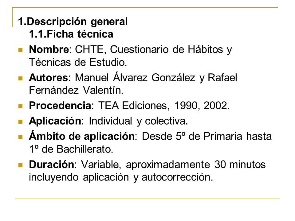1.Descripción general 1.1.Ficha técnica