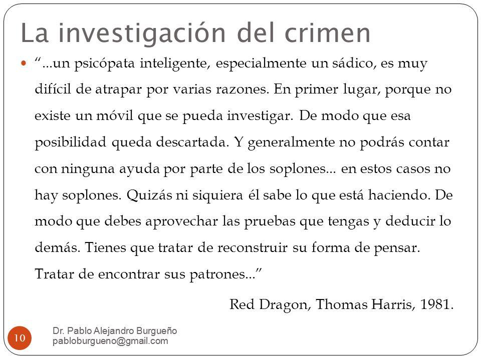 La investigación del crimen
