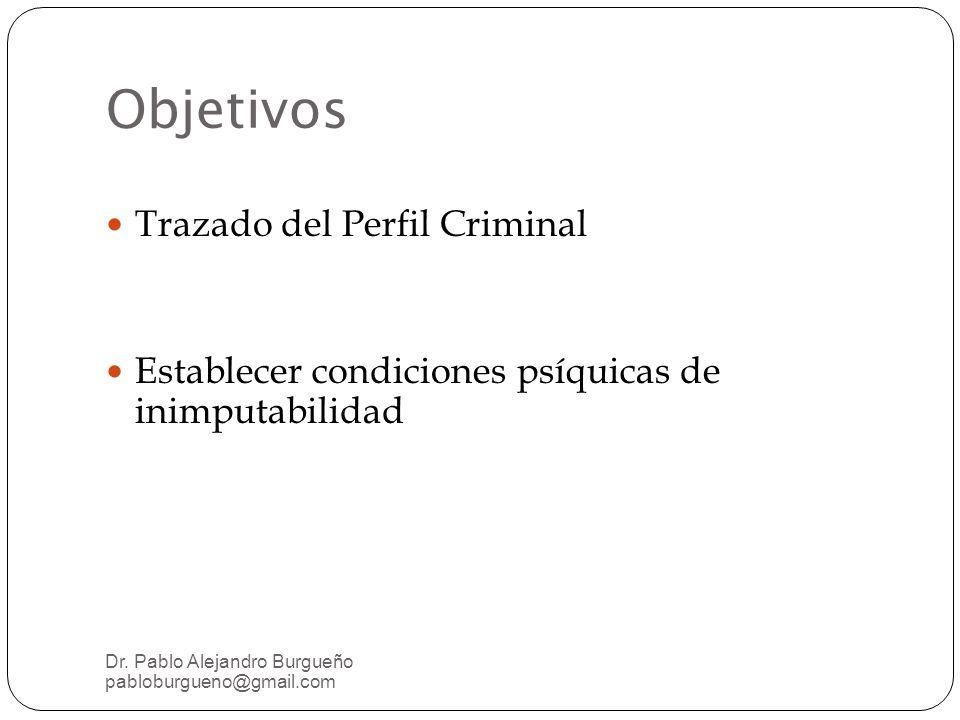 Objetivos Trazado del Perfil Criminal