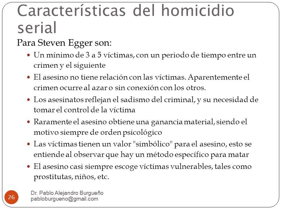 Características del homicidio serial