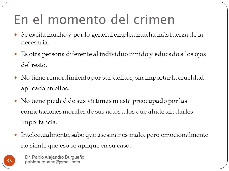 En el momento del crimen