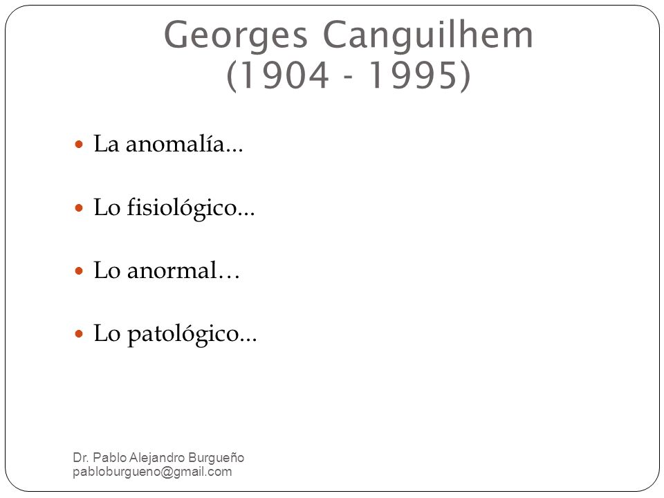 Georges Canguilhem (1904 - 1995)‏