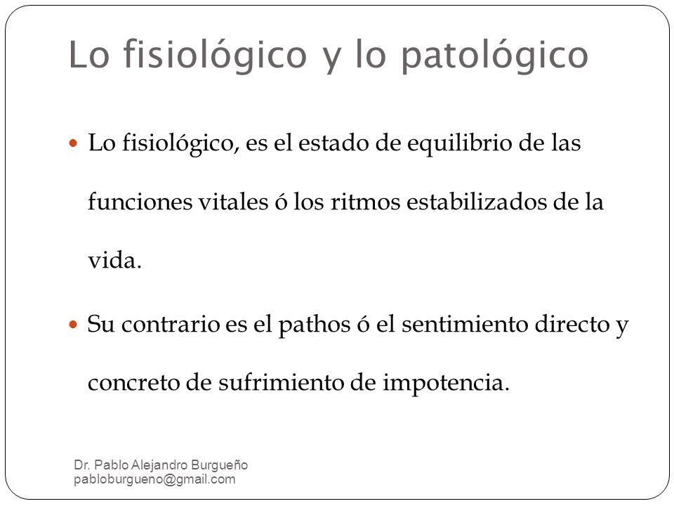 Lo fisiológico y lo patológico