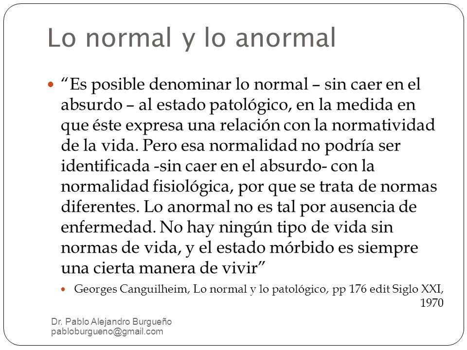 Lo normal y lo anormal