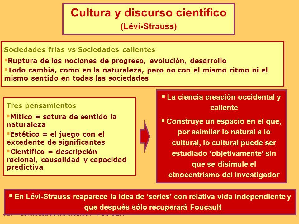 Cultura y discurso científico