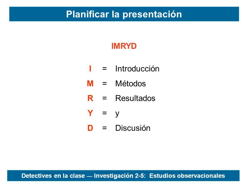 Planificar la presentación