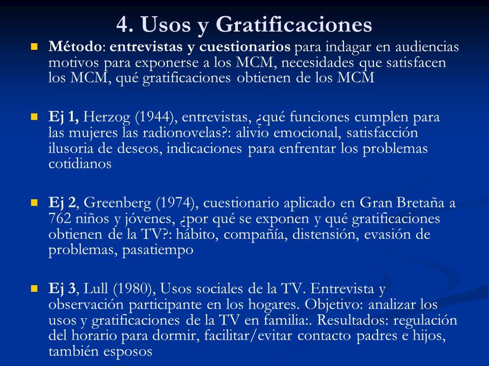 4. Usos y Gratificaciones