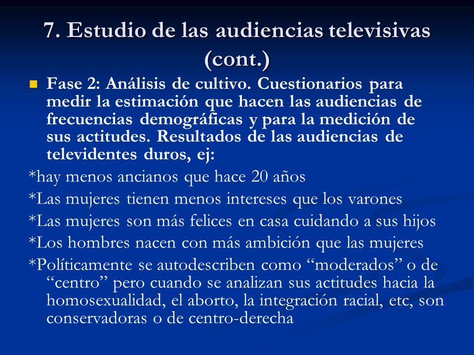 7. Estudio de las audiencias televisivas (cont.)