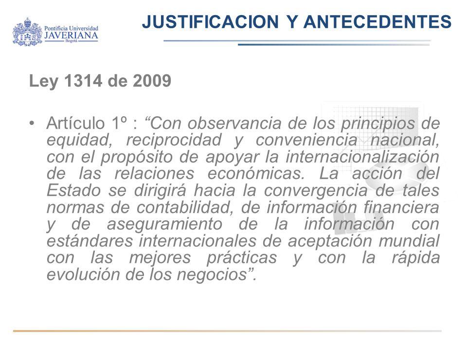 JUSTIFICACION Y ANTECEDENTES