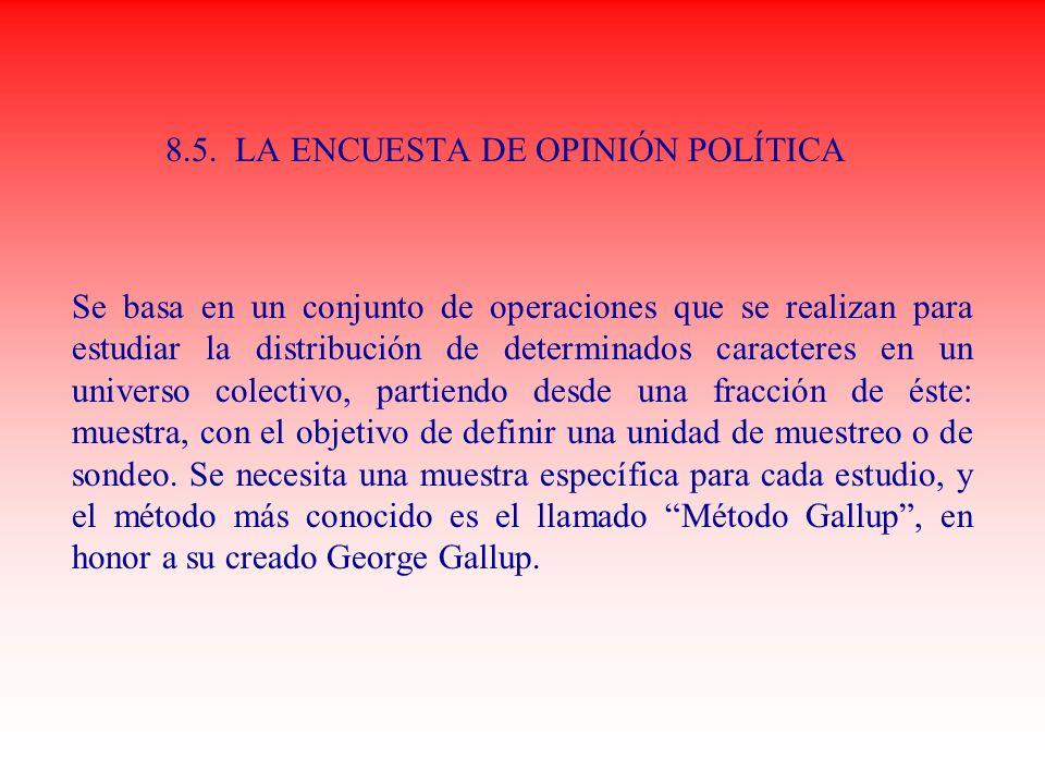 8.5. LA ENCUESTA DE OPINIÓN POLÍTICA