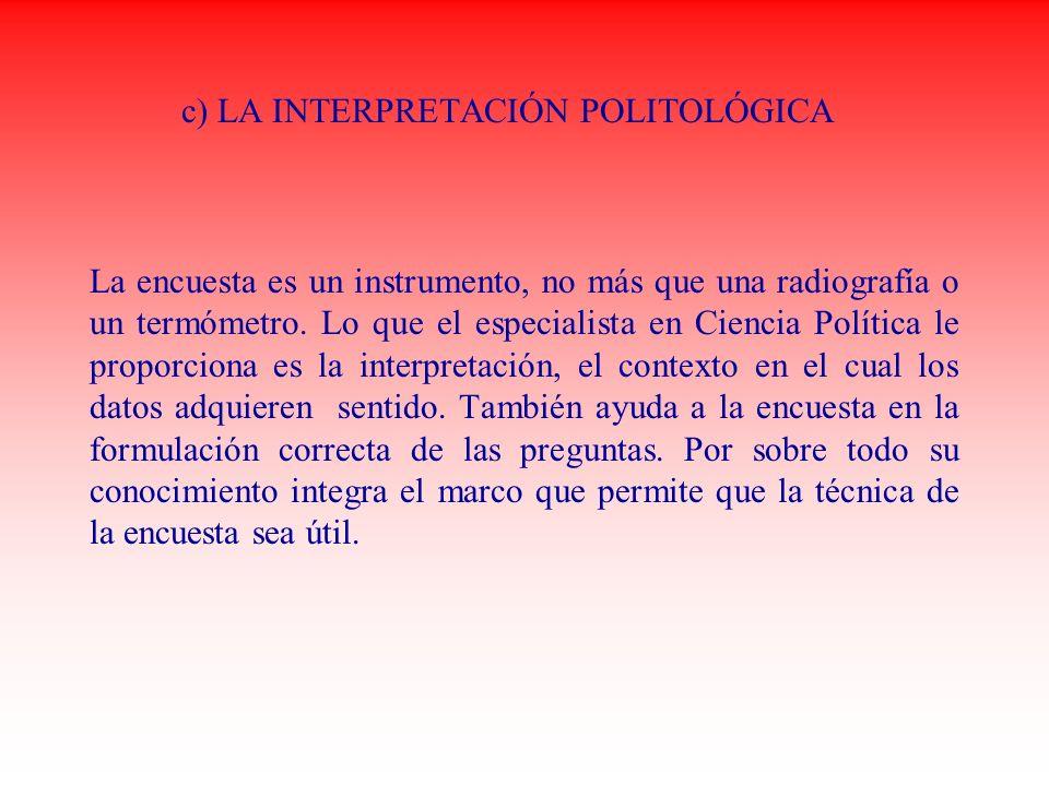 c) LA INTERPRETACIÓN POLITOLÓGICA