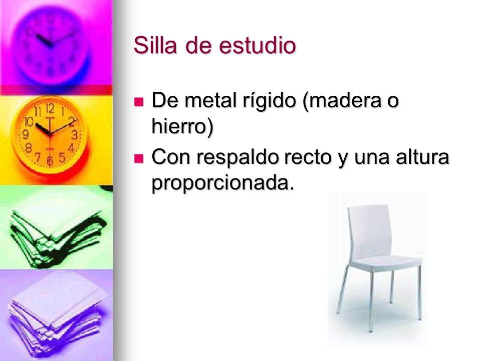Silla de estudio De metal rígido (madera o hierro)