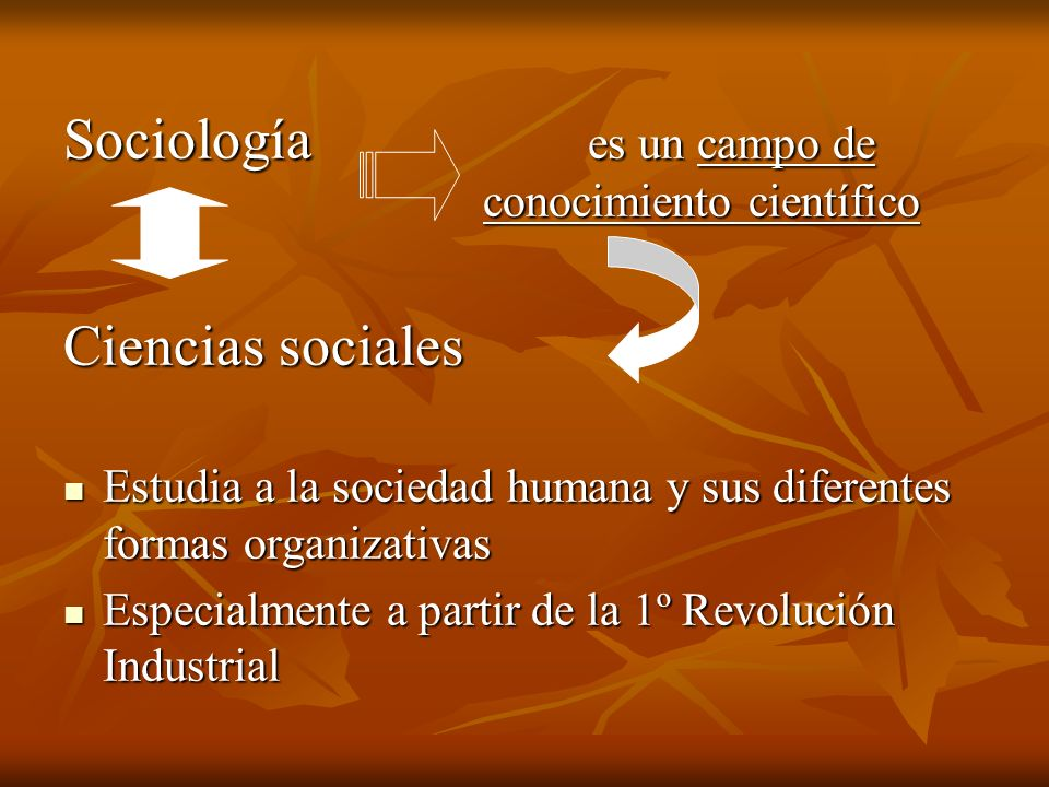 Sociología es un campo de conocimiento científico