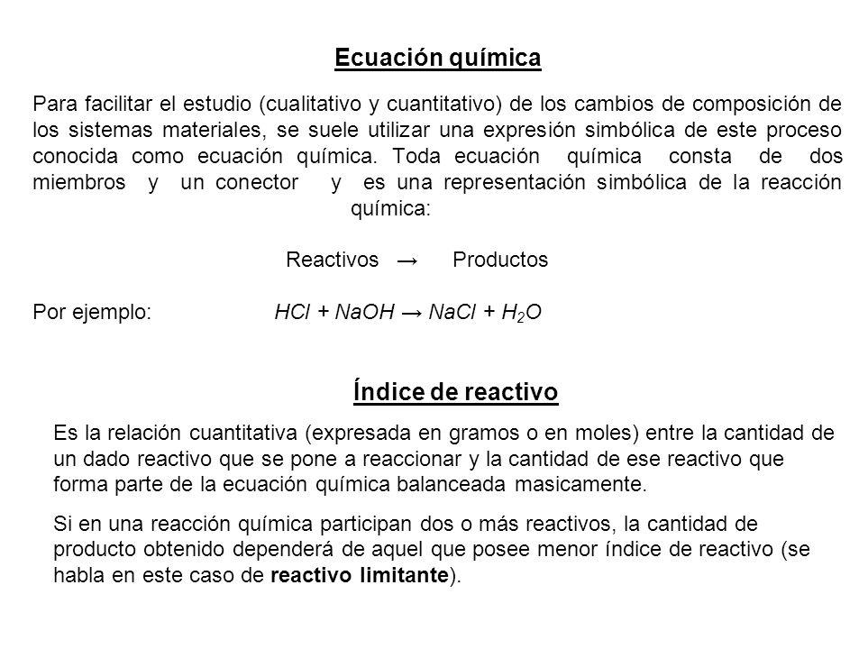 Ecuación química