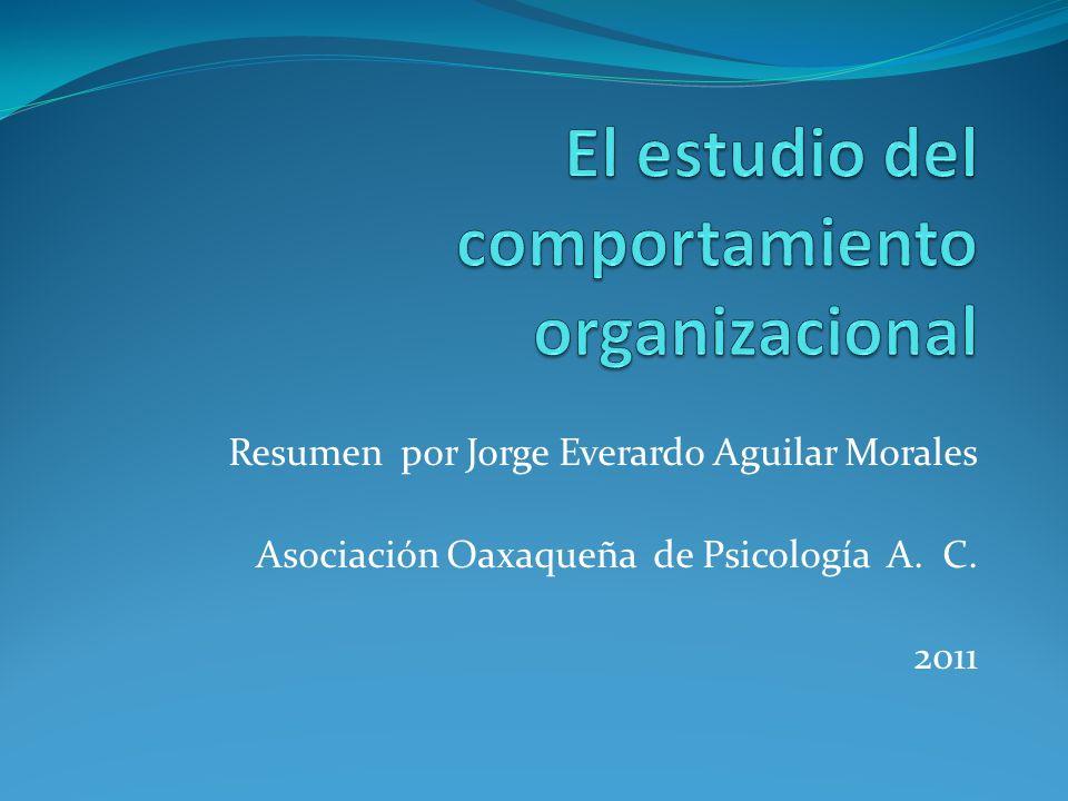 El estudio del comportamiento organizacional