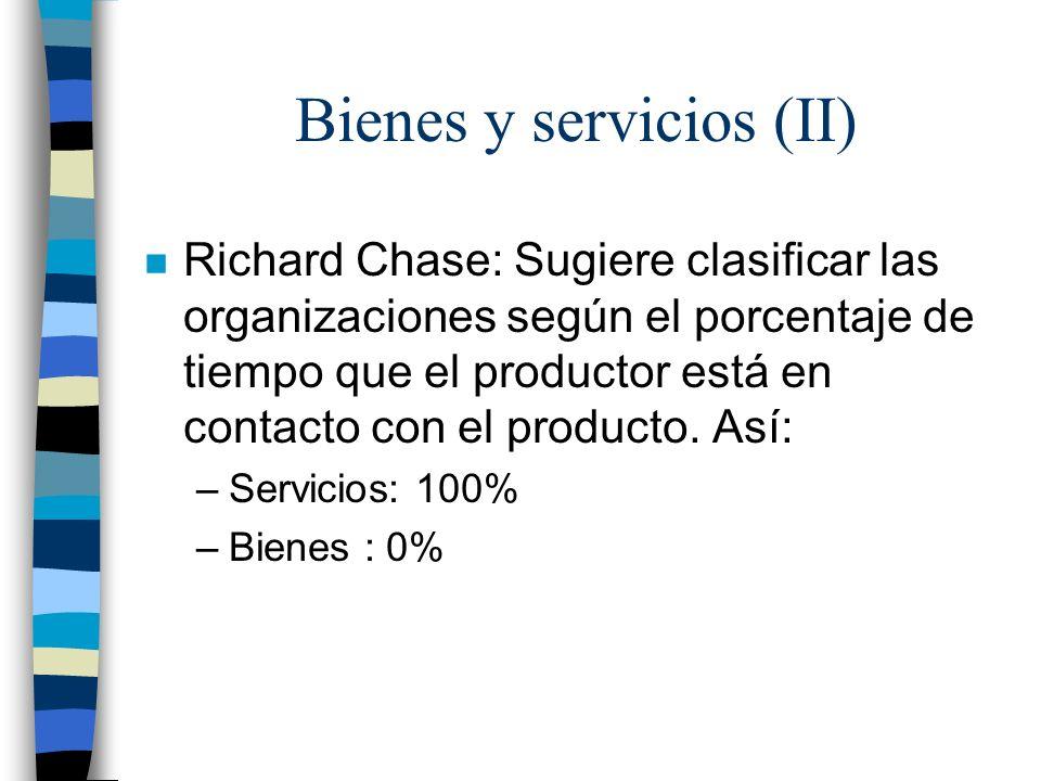 Bienes y servicios (II)