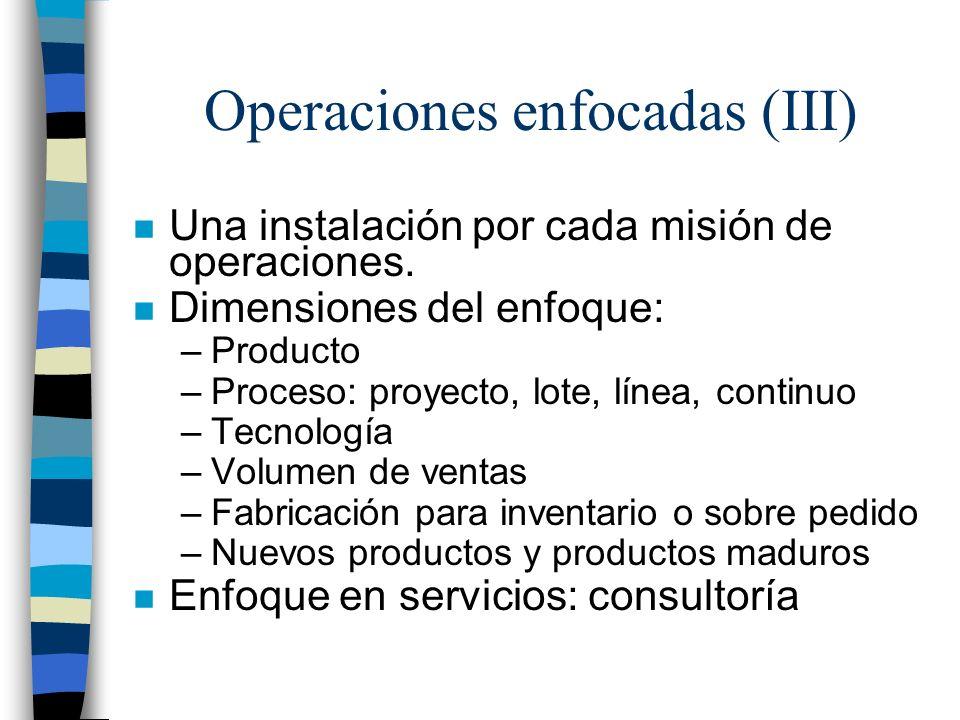 Operaciones enfocadas (III)