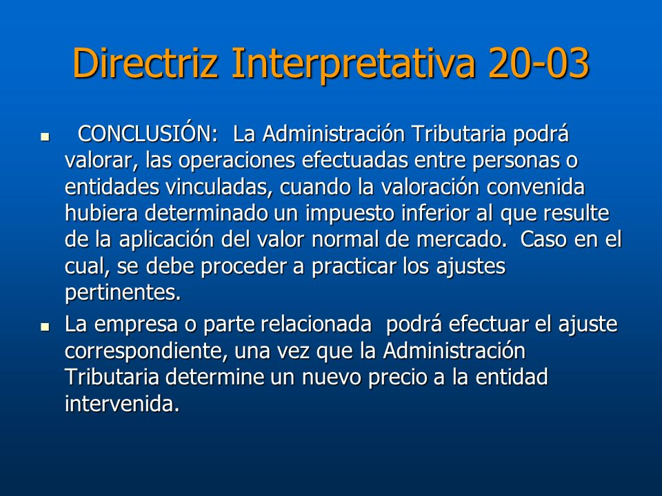 Directriz Interpretativa 20-03