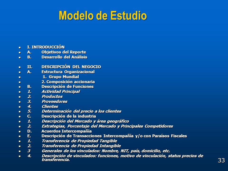 Modelo de Estudio I. INTRODUCCIÓN A. Objetivos del Reporte