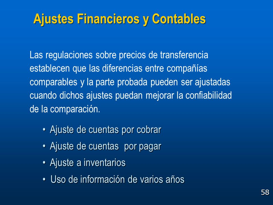 Ajustes Financieros y Contables