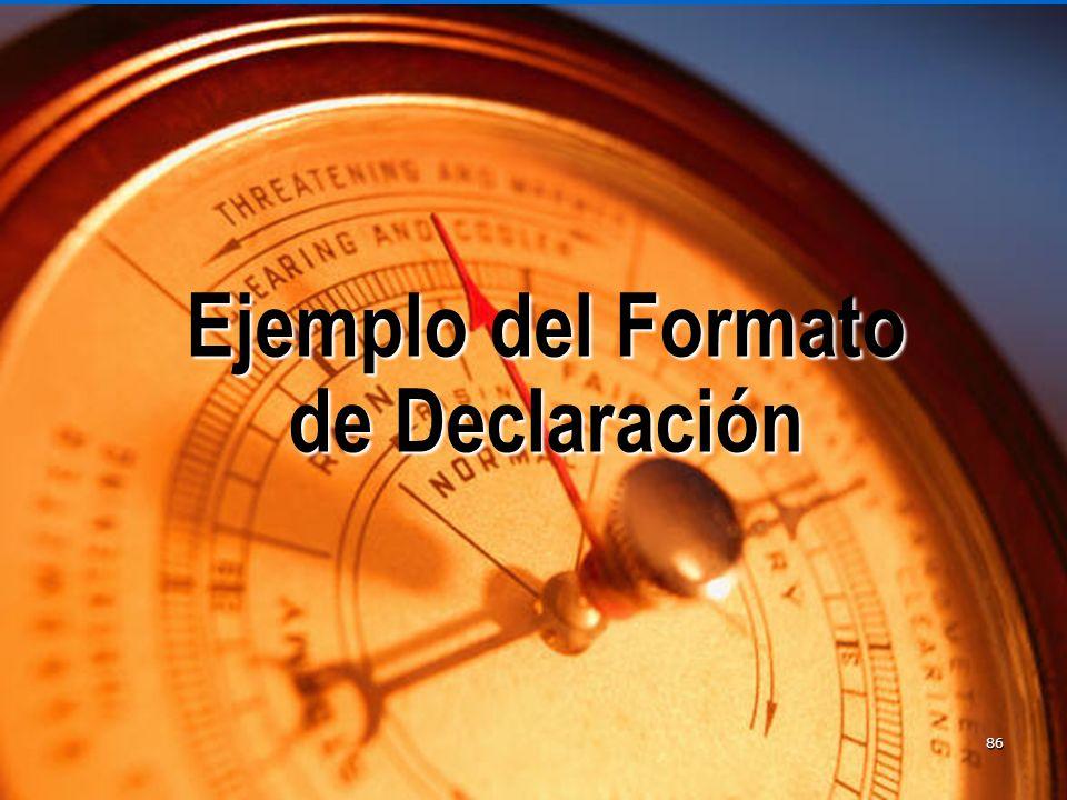 Ejemplo del Formato de Declaración