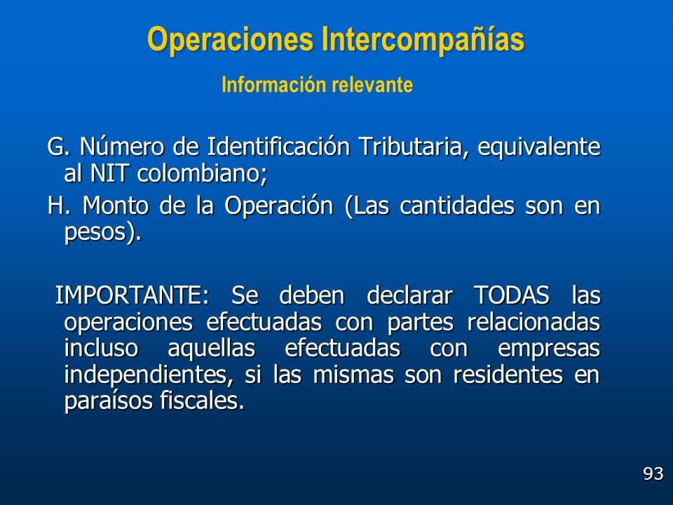 Operaciones Intercompañías