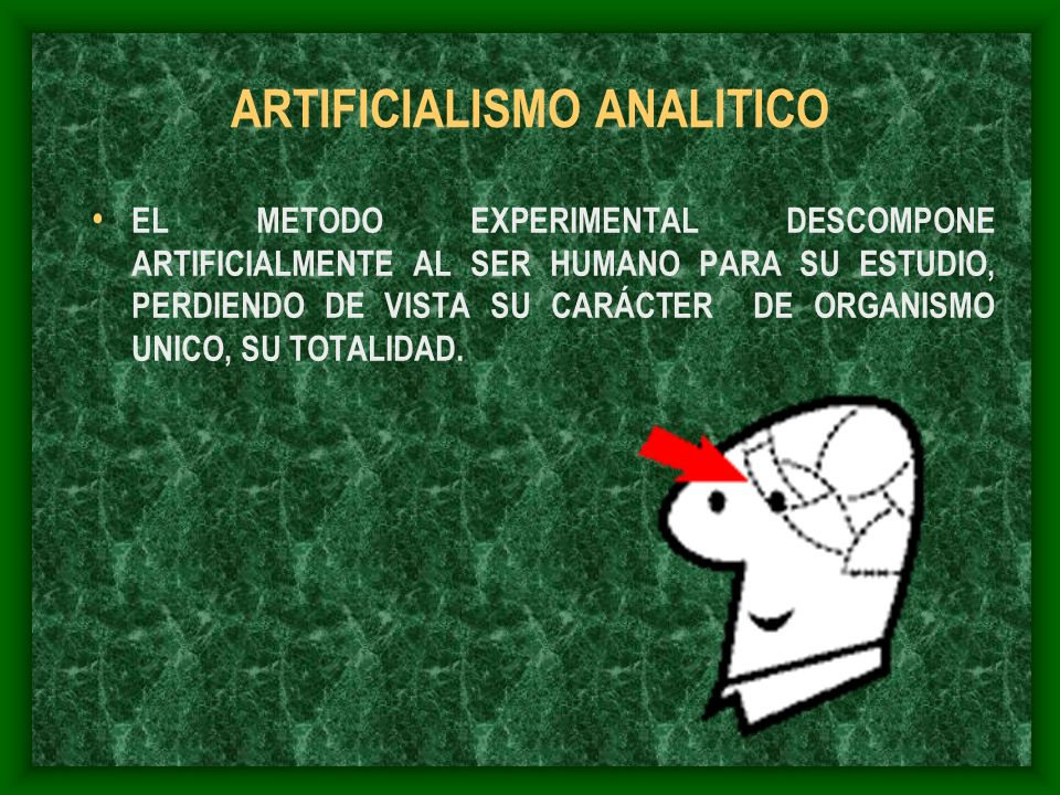 ARTIFICIALISMO ANALITICO