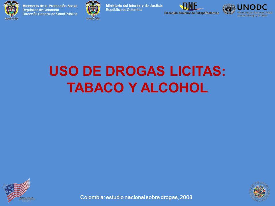USO DE DROGAS LICITAS: TABACO Y ALCOHOL
