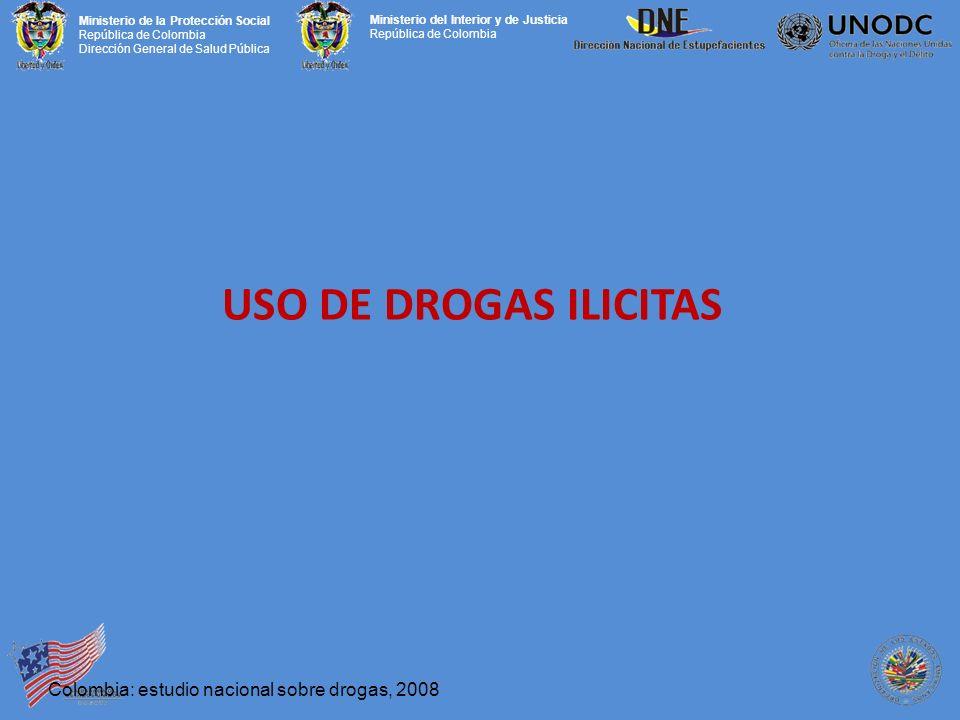 USO DE DROGAS ILICITAS Colombia: estudio nacional sobre drogas, 2008