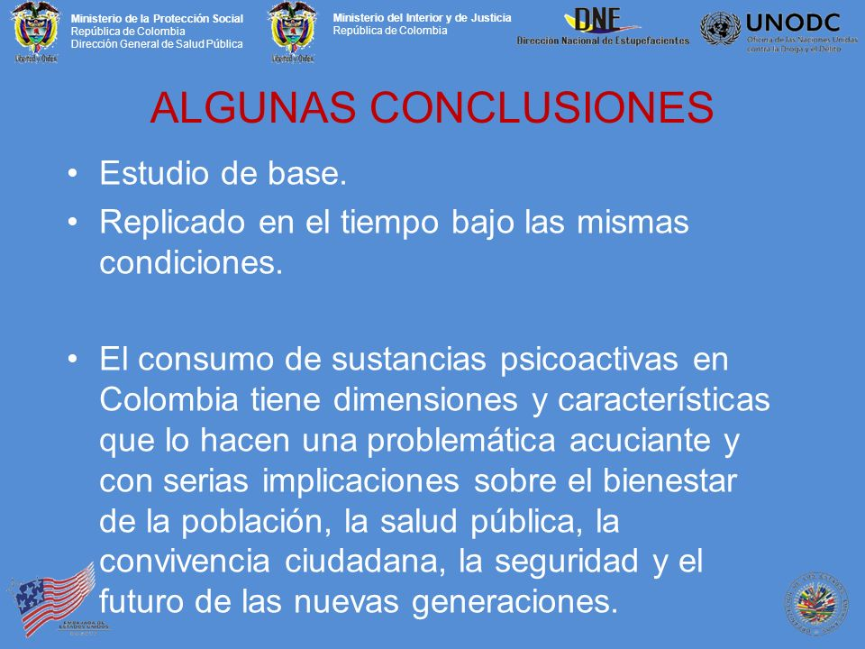 ALGUNAS CONCLUSIONES Estudio de base.