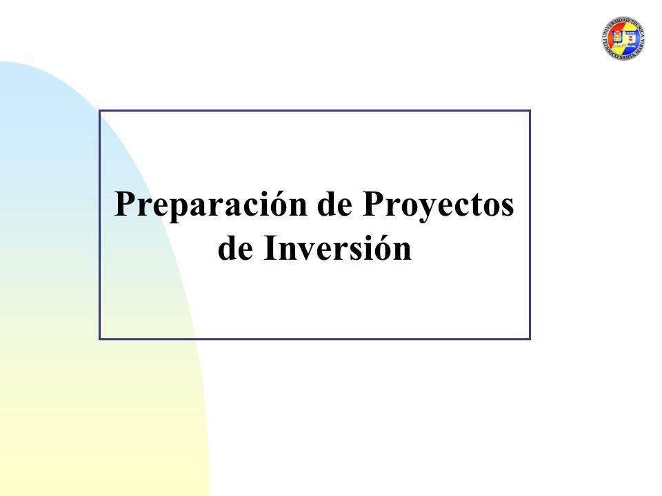 Preparación de Proyectos de Inversión