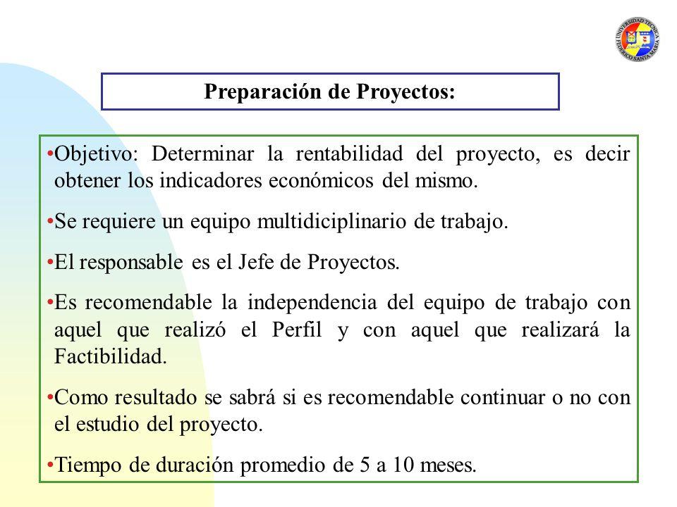 Preparación de Proyectos: