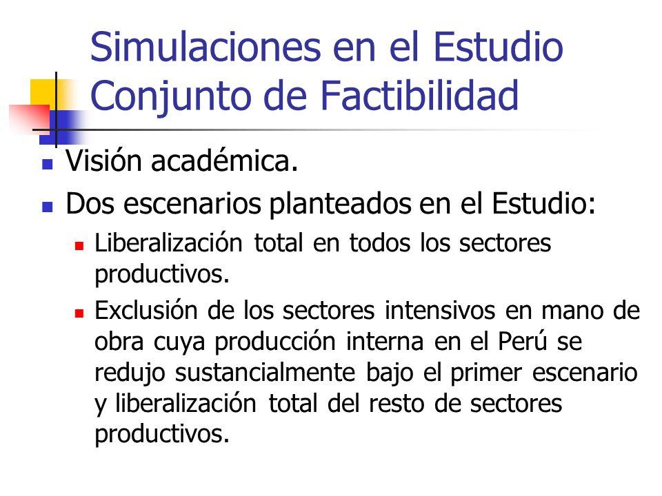 Simulaciones en el Estudio Conjunto de Factibilidad