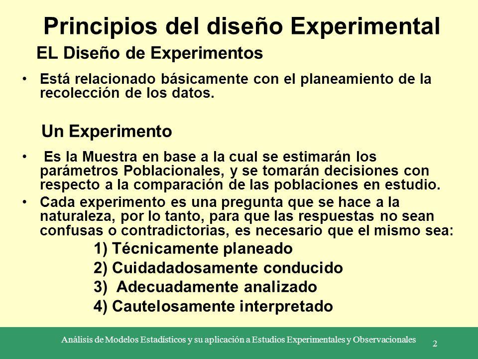 Principios del diseño Experimental
