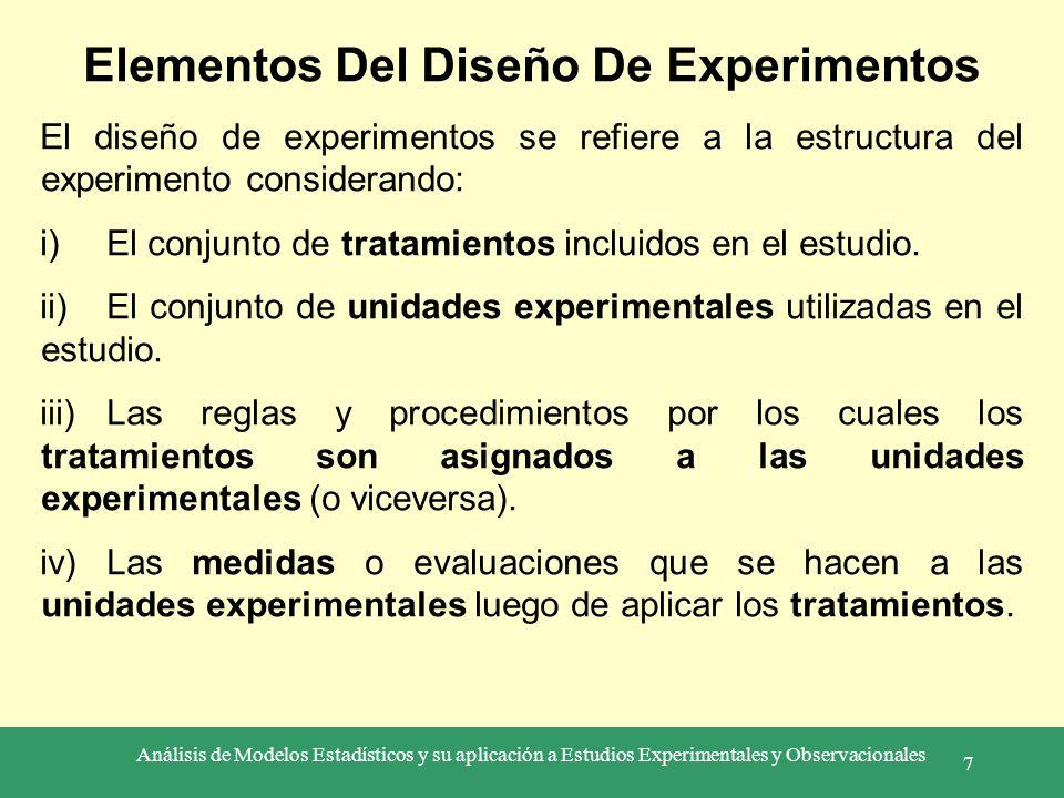 Elementos Del Diseño De Experimentos