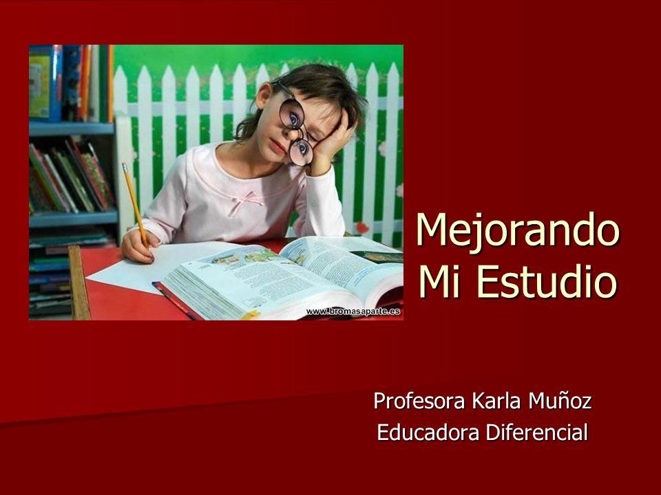Profesora Karla Muñoz Educadora Diferencial