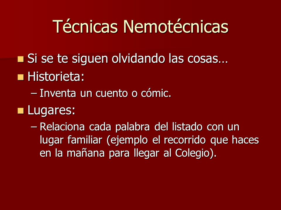 Técnicas Nemotécnicas