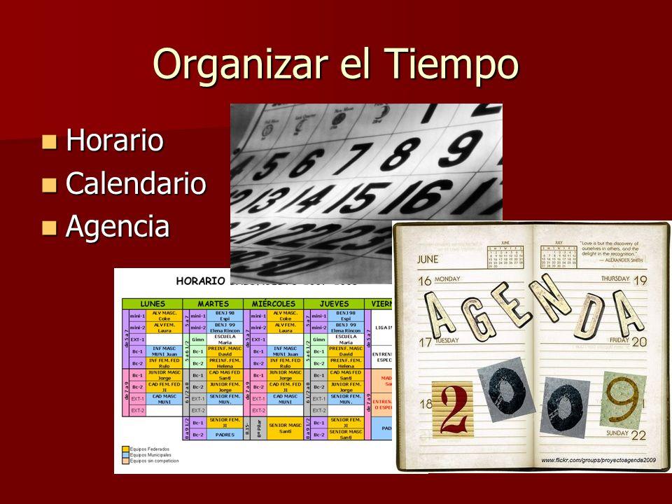 Organizar el Tiempo Horario Calendario Agencia