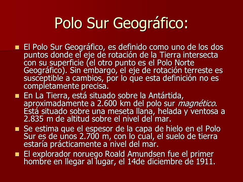 Polo Sur Geográfico: