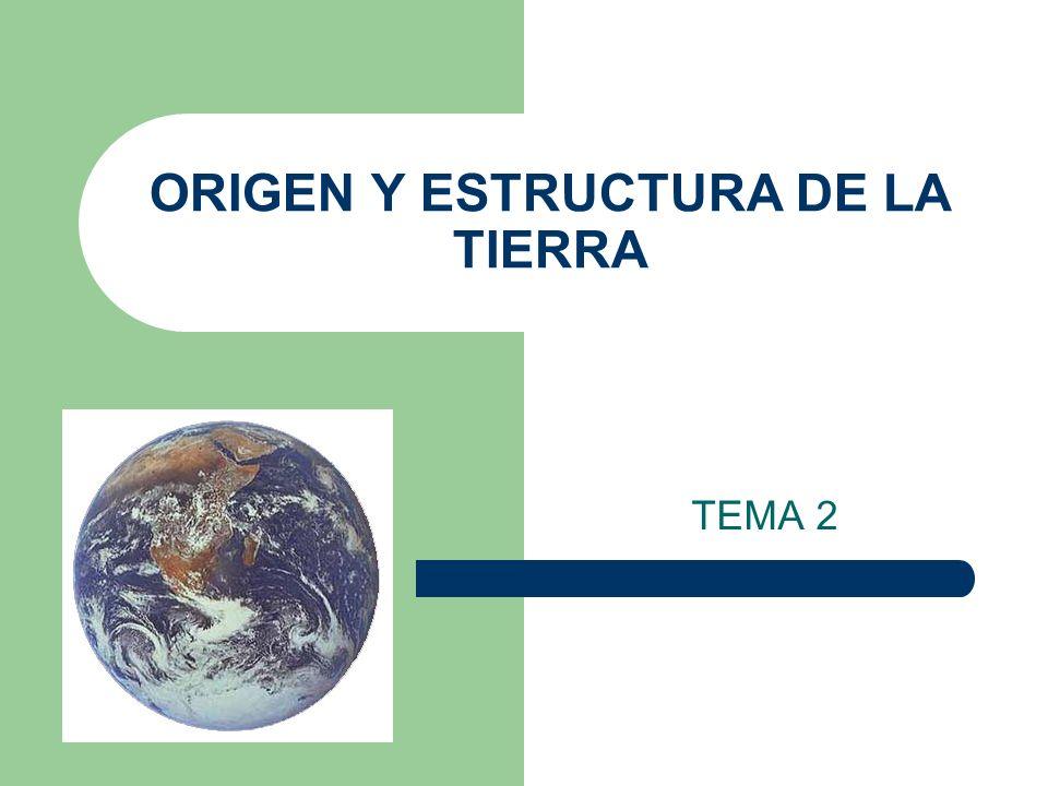 ORIGEN Y ESTRUCTURA DE LA TIERRA
