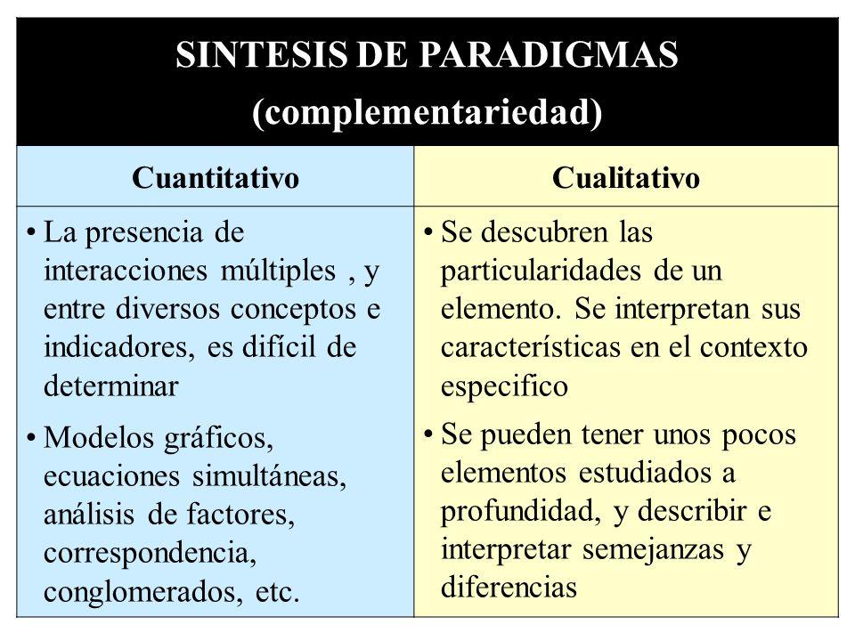 SINTESIS DE PARADIGMAS