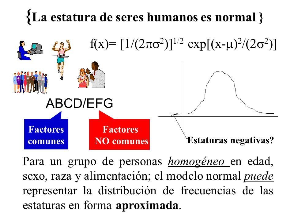 {La estatura de seres humanos es normal }