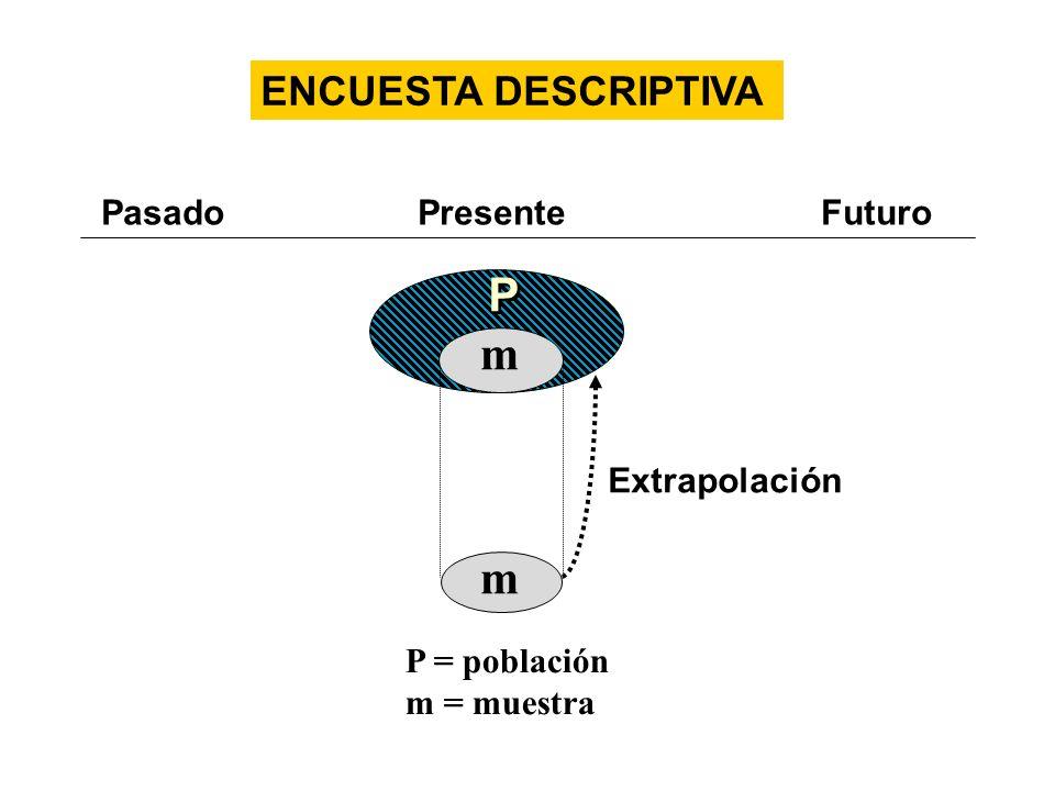 P m ENCUESTA DESCRIPTIVA Pasado Presente Futuro Extrapolación