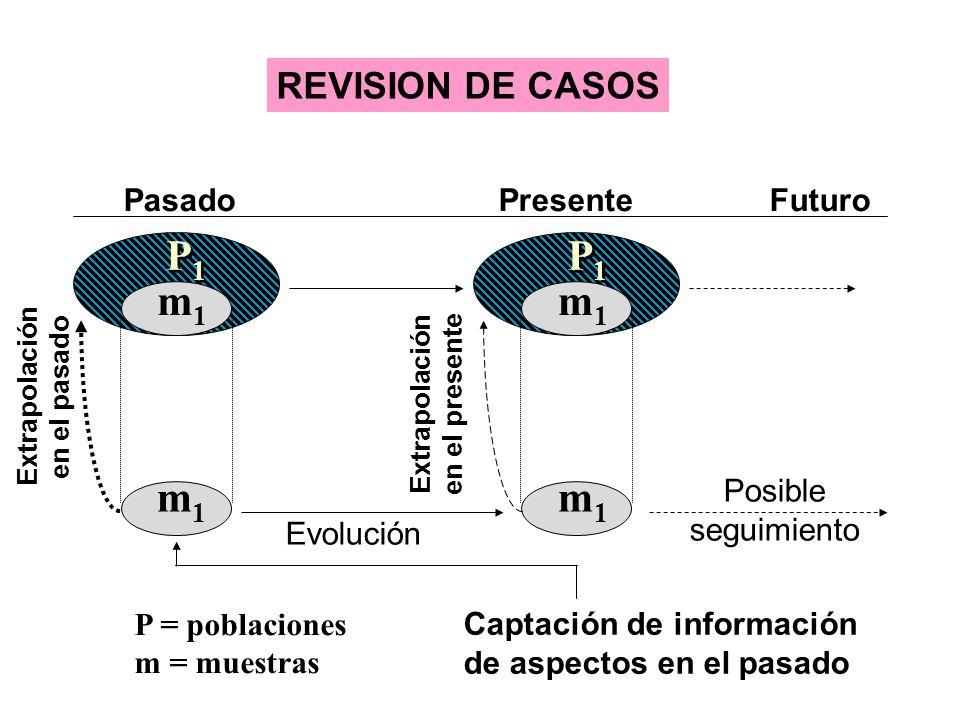 P1 P1 m1 m1 m1 m1 REVISION DE CASOS Pasado Presente Futuro