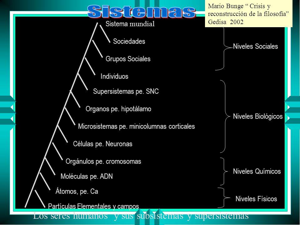 Sistemas Los seres humanos y sus subsistemas y supersistemas
