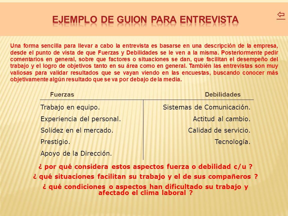 EJEMPLO DE GUION PARA ENTREVISTA