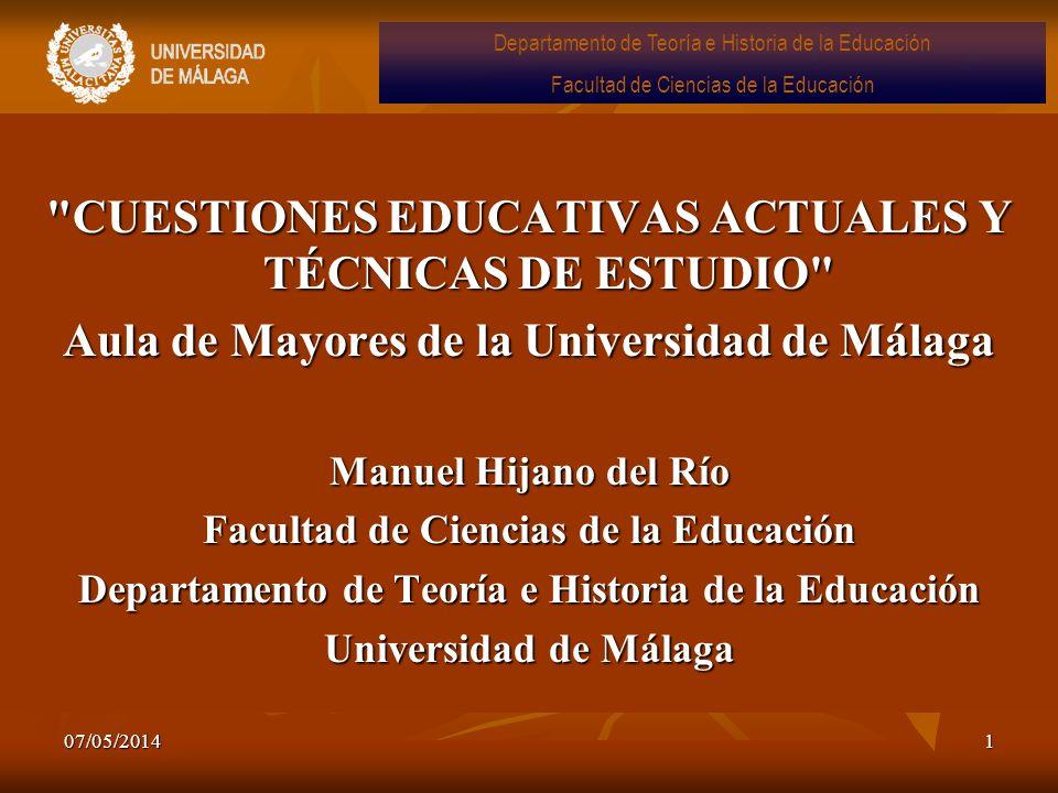 Aula de Mayores de la Universidad de Málaga