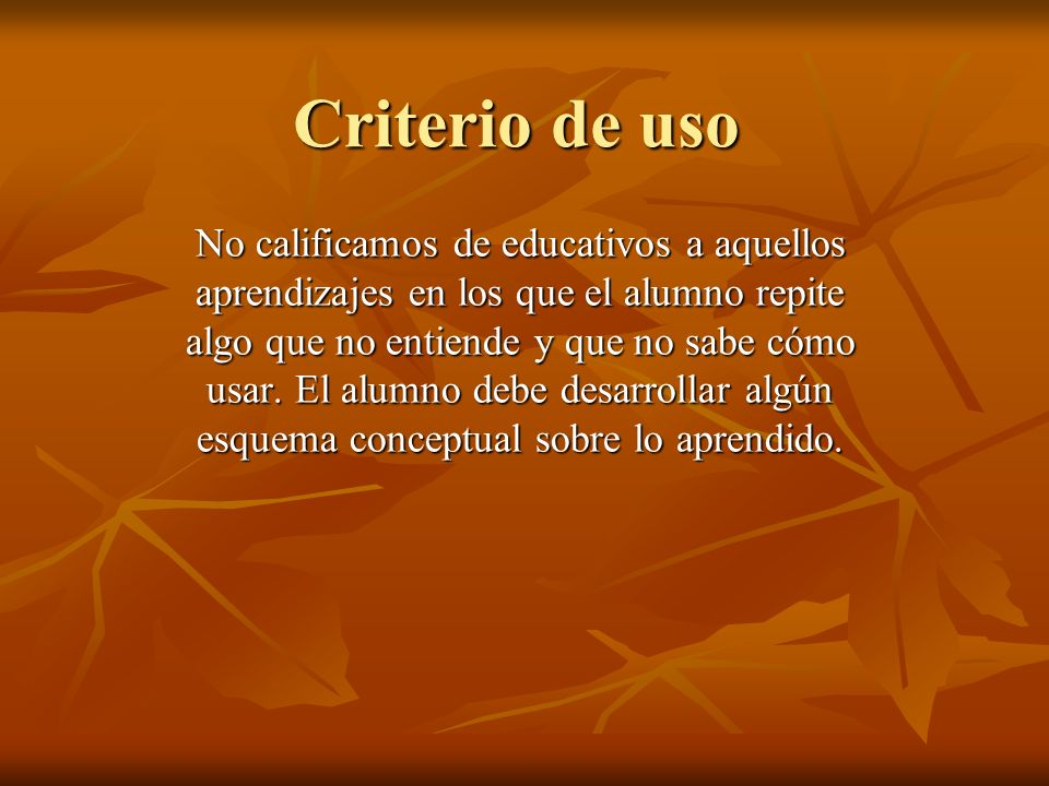 Criterio de uso