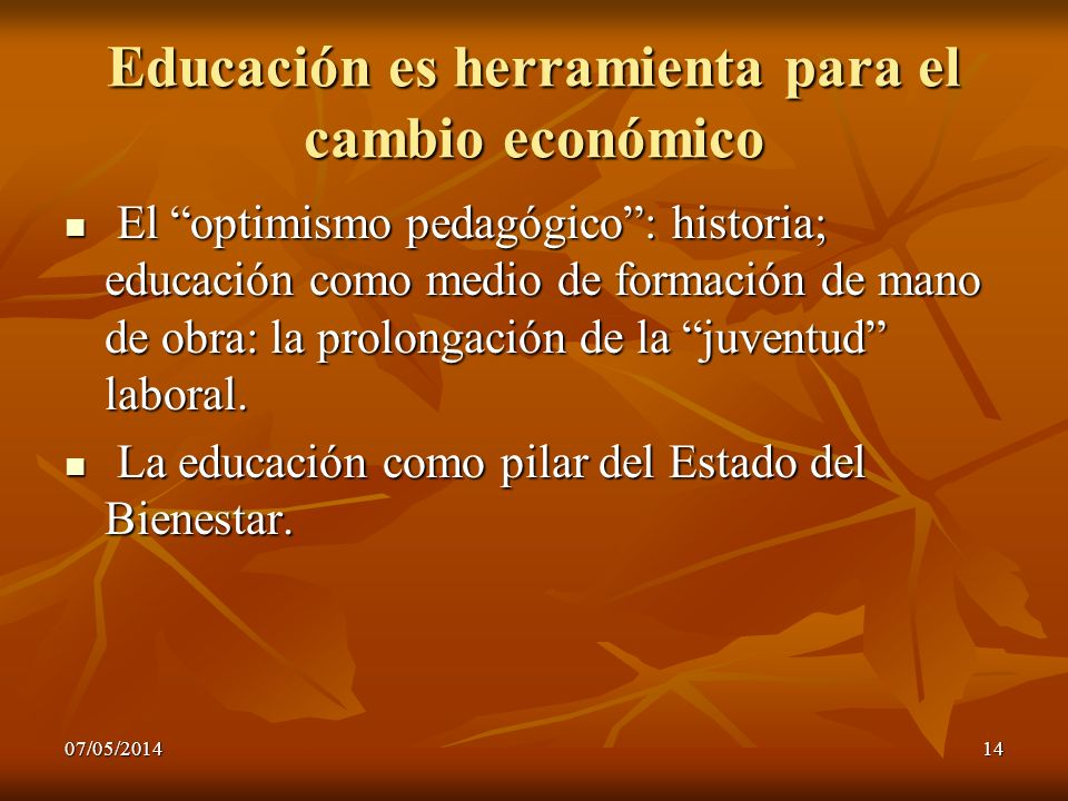 Educación es herramienta para el cambio económico
